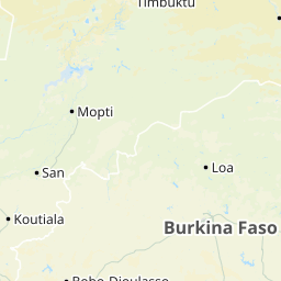 ブルキナファソ地図 - ブルキナ...